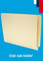 Increase floor-space with end (side) tab folders